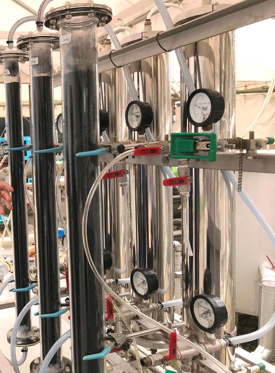 メタンガスから不純物を除去するシステム
