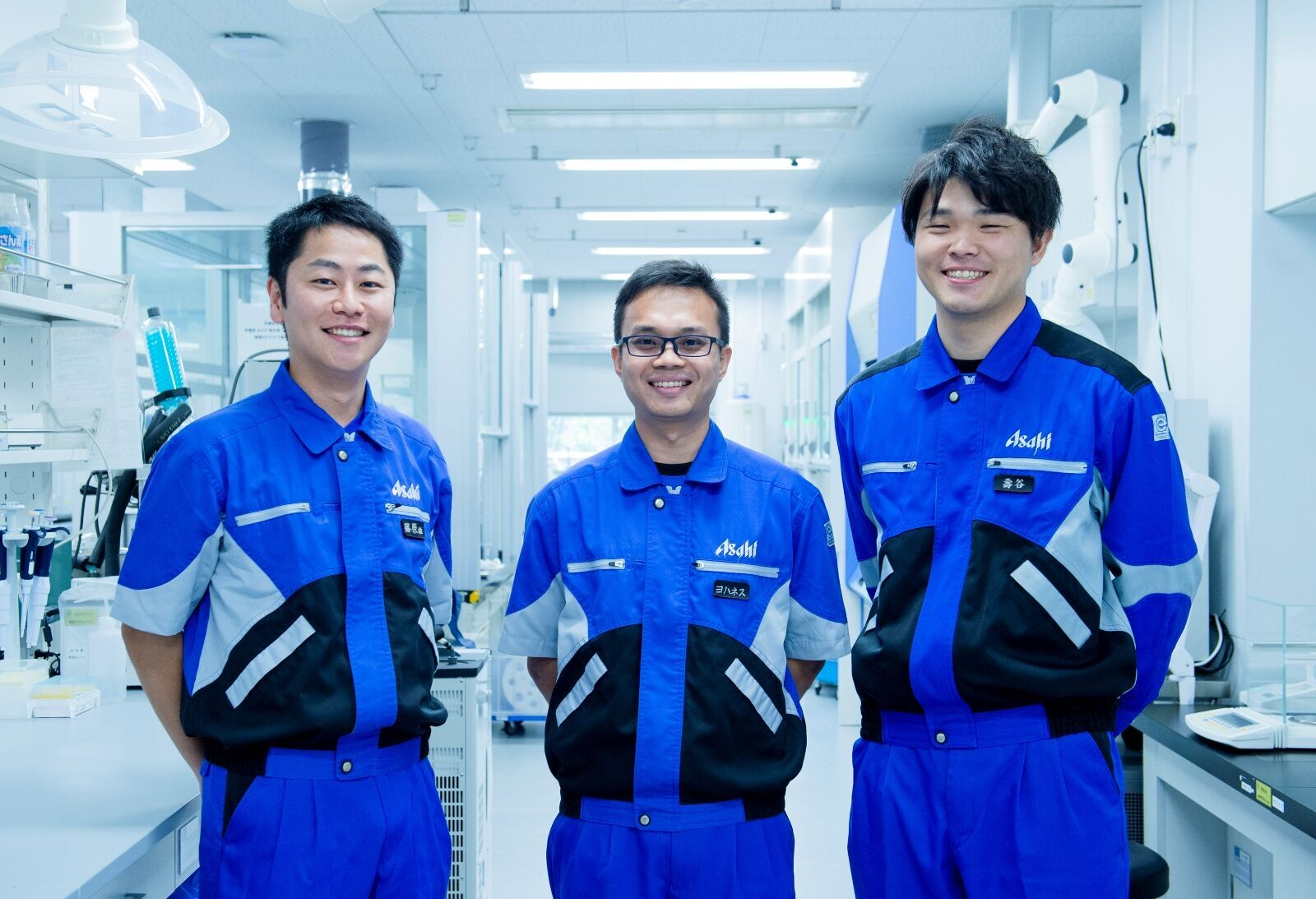 AQI食の安全研究所の研究員3名