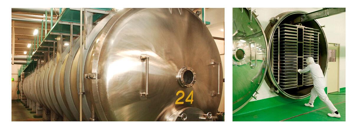 フリーズドライ食品の製造に必要な真空凍結乾燥機の写真