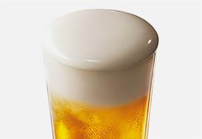 グラスにはいったビールのイメージ写真